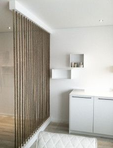 appealing simple living room divider | 15 Simple Rope Wall For Room Dividers | DIBS org office ...
