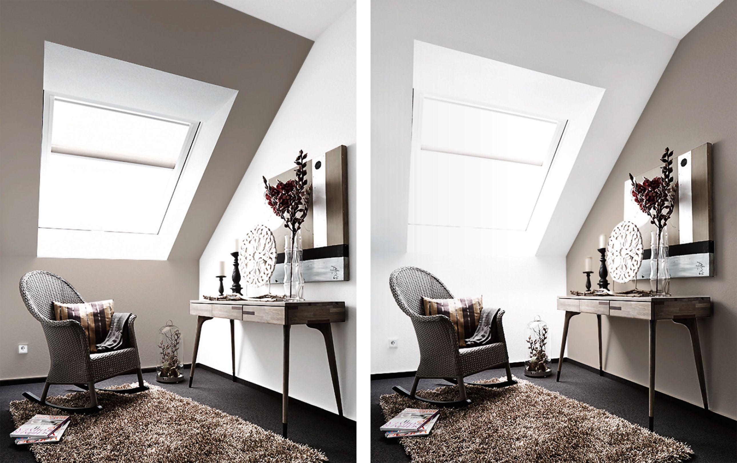 Schlafzimmer Dachschr臠e Farblich Gestalten