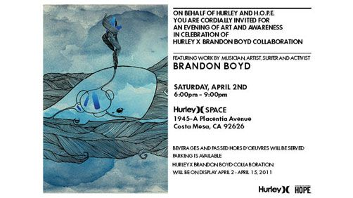 BRANDON BOYD OPENING AT HURLEY )( SPACE GALLERY