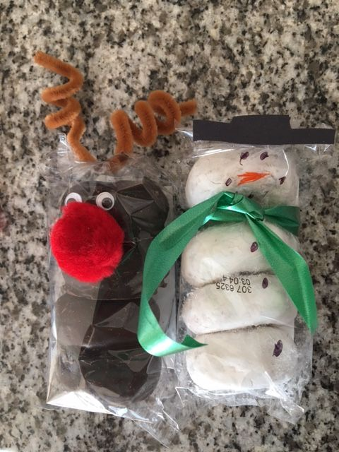 White Christmas Classroom Decorations ~ Holiday donut reindeer and snowman treats walmart has