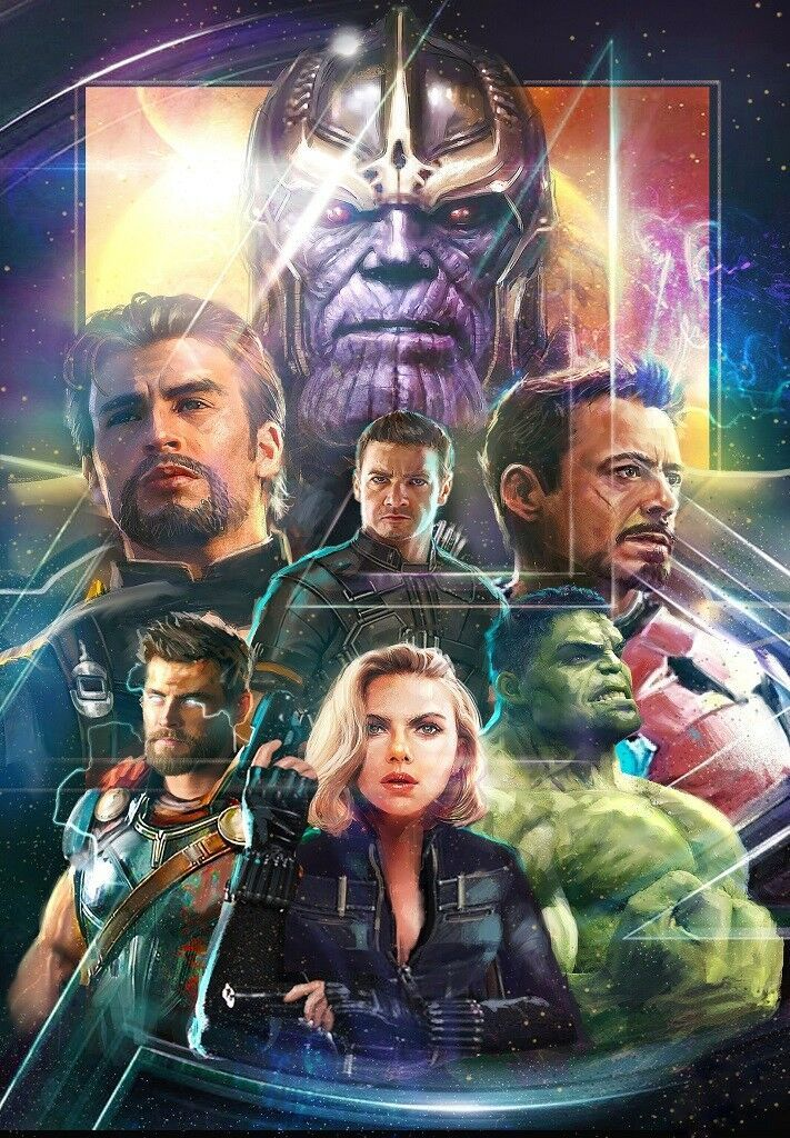 Details about Avengers Infinity War Movie Poster Marvel Comics Art Print 13×20″ 24X36″ 27×40″