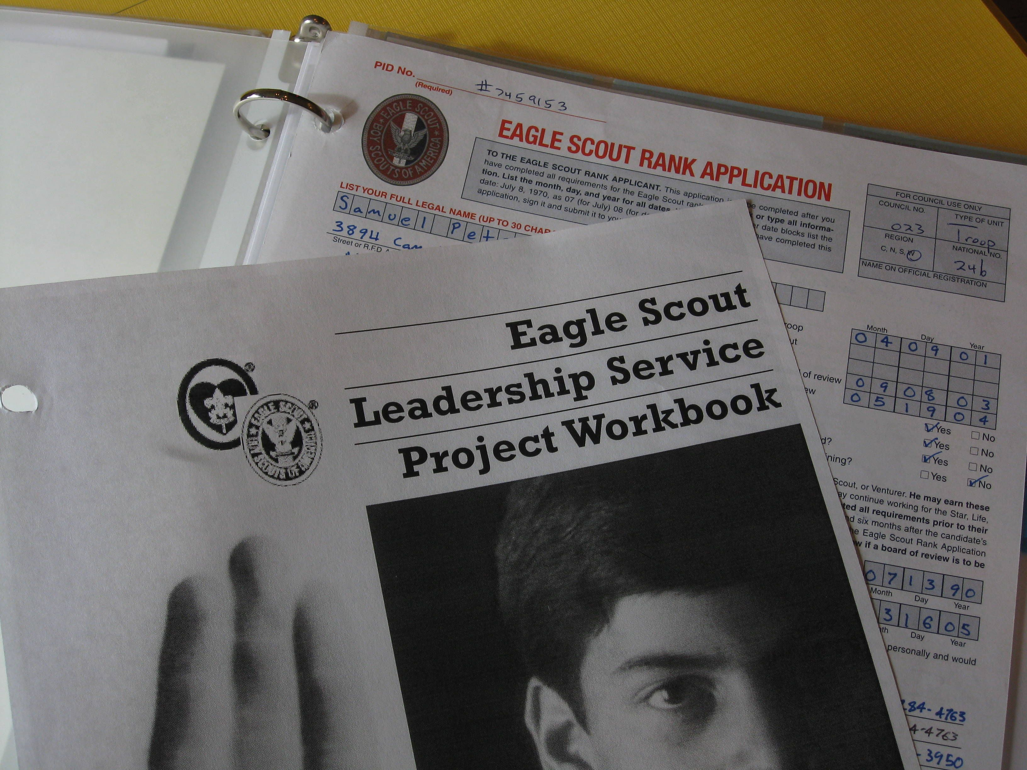 How to Assemble an Eagle Scout Binder – Eagle Scout Worksheet