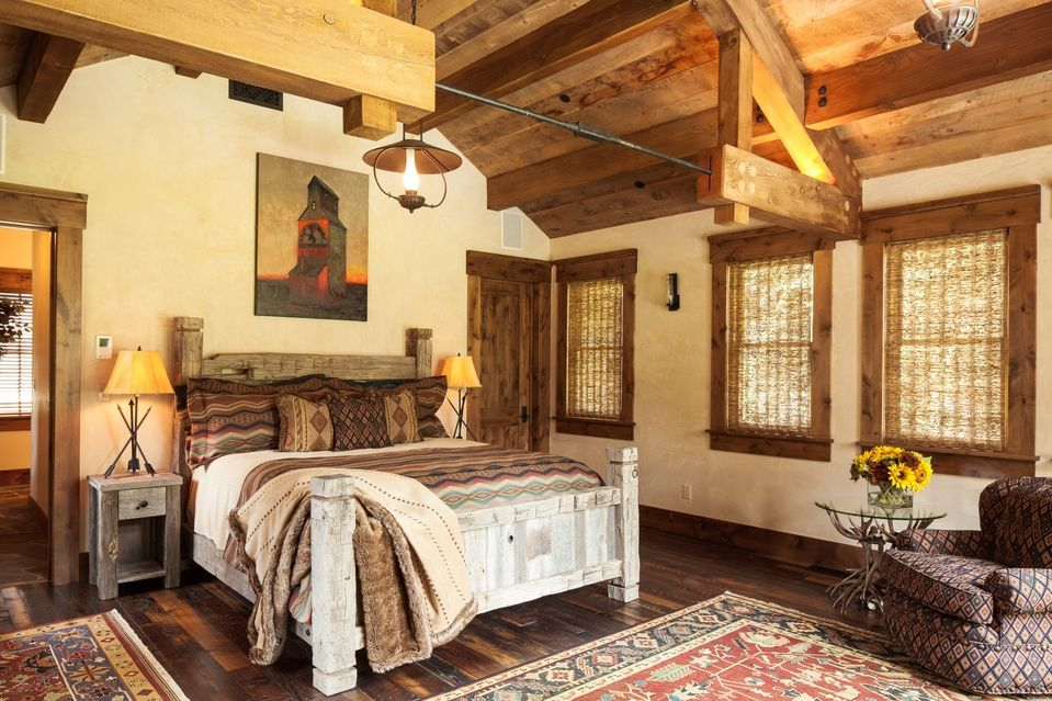 Luxury Log-Cabin Homes--WSJ Mansion Bedrooms, Cabin and Amazing