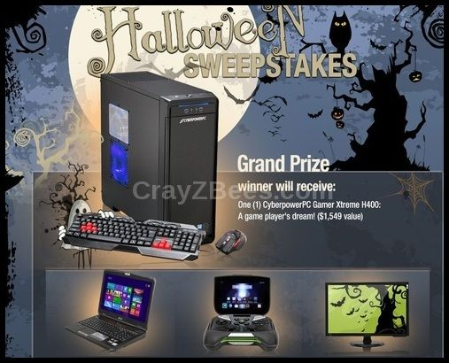 NeweggFlash Halloween Sweepstakes WINNotebooks,Gaming Systems,TVs & More Ends 10/31
