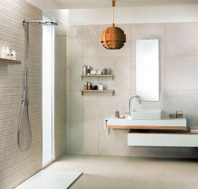 ideen badgestaltung kleiner raume fliesen creme farbe | Wohnideen ...