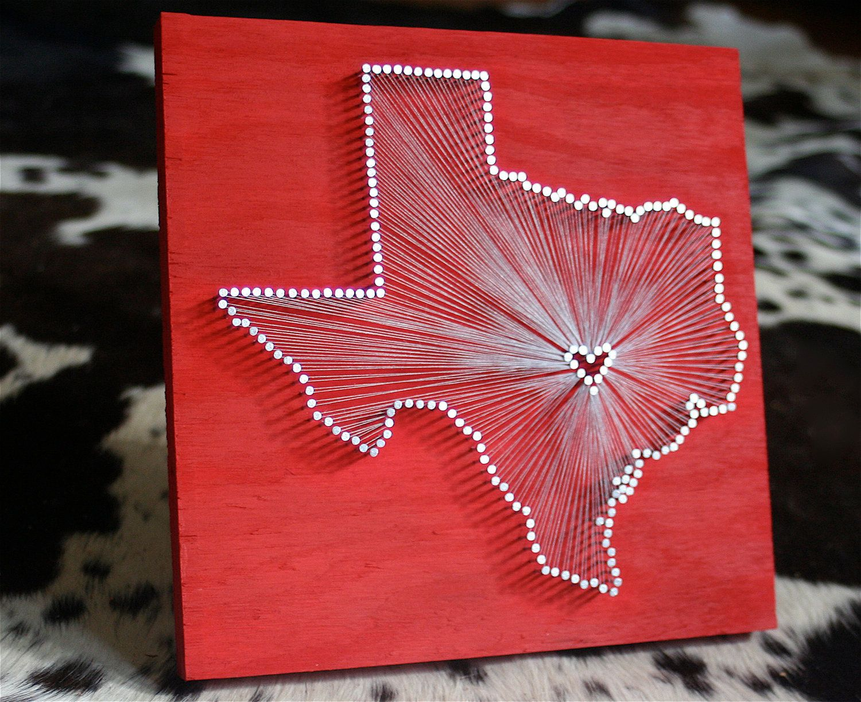 State string art twelve weeks of christmas week 12 string art state string art texas oh texas shown tutorial baditri Image collections