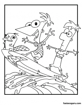 printable cartoon phineas and ferb coloring pages printable coloring pages for kids