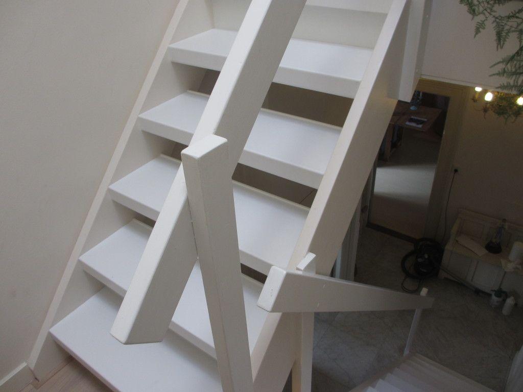 Witte open trap renovatie in maarssen stairz for Open trap renovatie