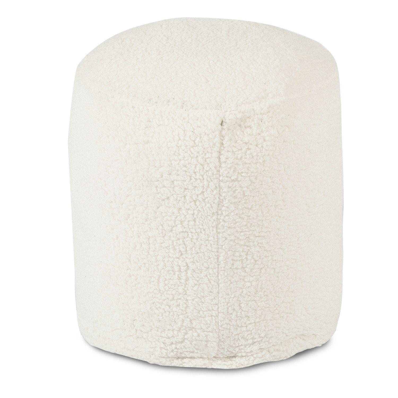 Fine Majestic Home Goods Faux Sherpa Sheepskin Small Pouf Ottoman Short Links Chair Design For Home Short Linksinfo