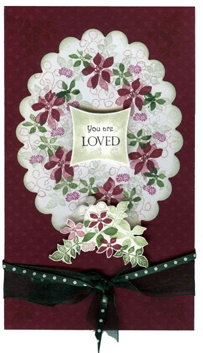 Garden Veranda Holiday Card by the Rubber Stamp Tapestry Design Team.