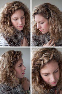 Прически на длинные волосы для кудрявых волос