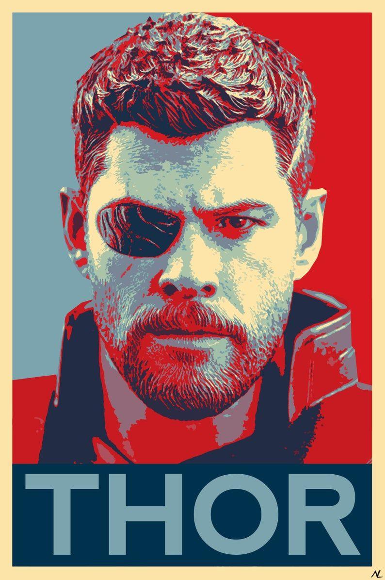 Canvas Picture Print Marvel Avengers Infinity War Superhero Movie Poster