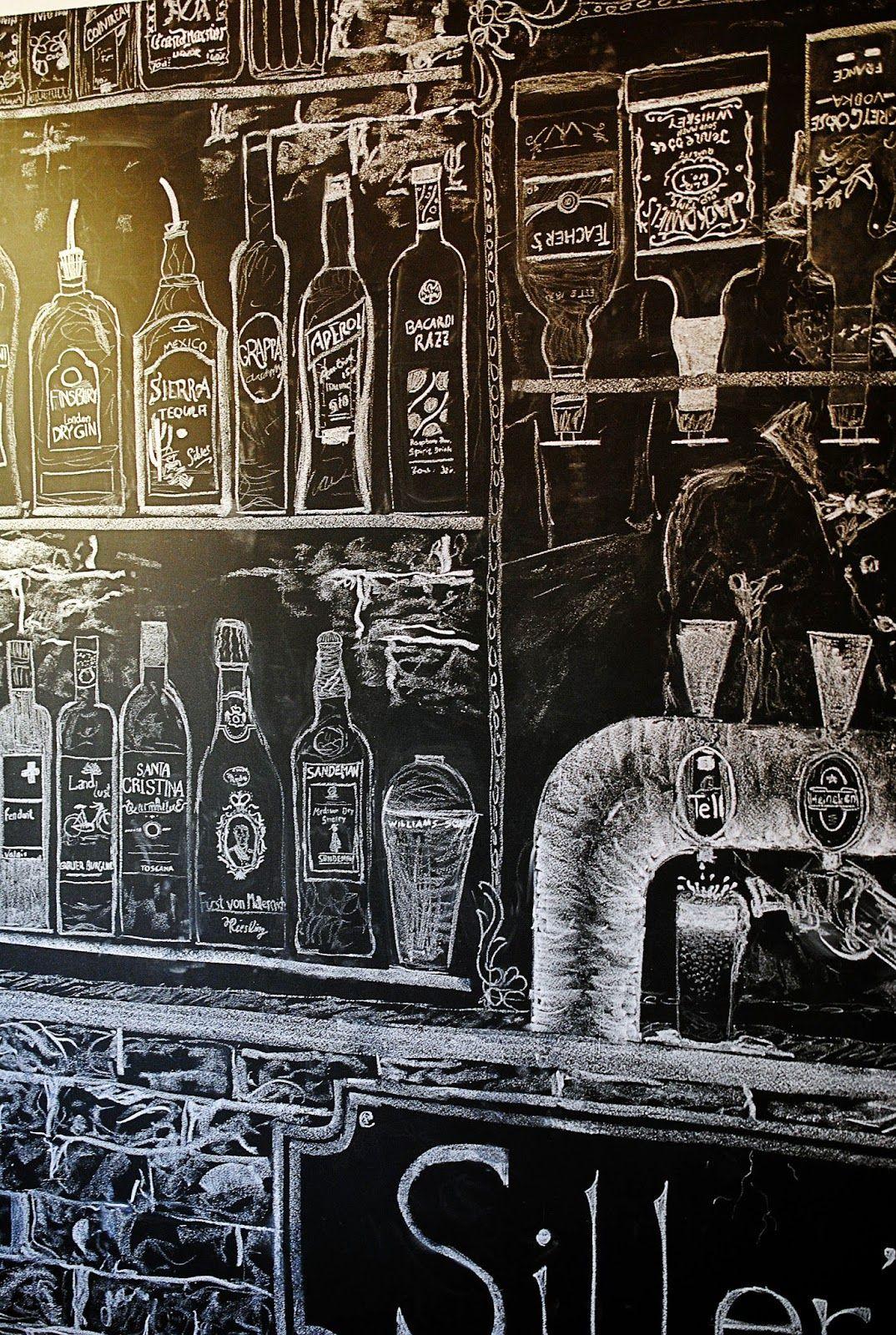 blackboard chalkboard chalk art bar enluminure. Black Bedroom Furniture Sets. Home Design Ideas
