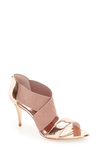85ac807d16e Free shipping and returns on Ted Baker London  Leniya  Sandal (Women) at  Nordstrom.com. Crisscrossing elasticized straps top an elegant sandal  lifted by a ...