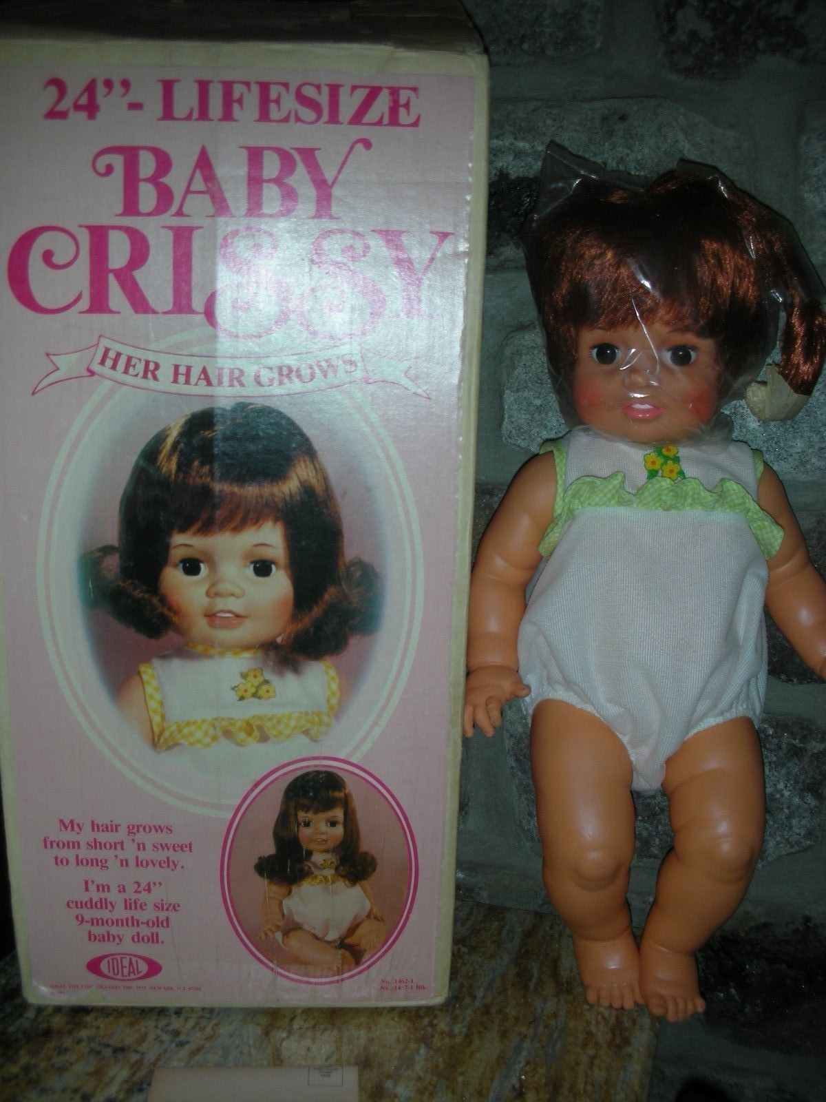 Vintage Ideal Baby Crissy Doll Mint In Box 24 Inch Play Pal Playpal