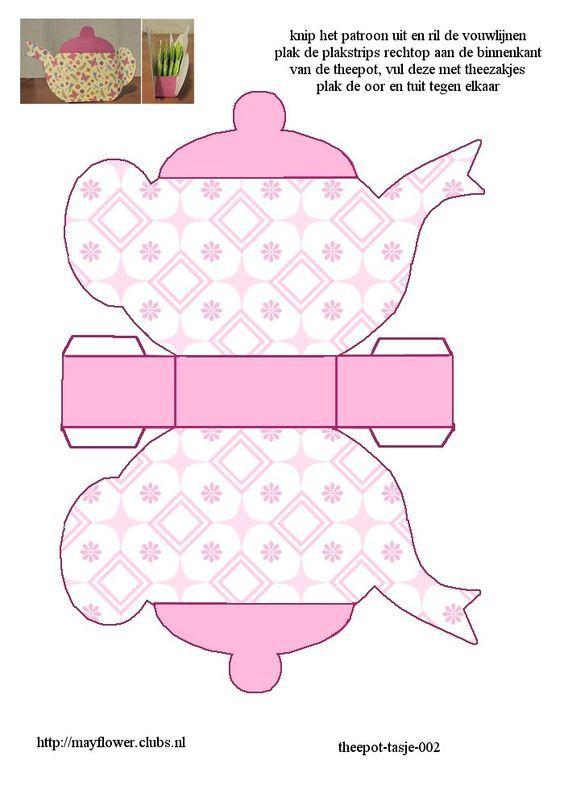 Bule e xícara   Paper dolls and art in paper   Pinterest   Teekanne ...