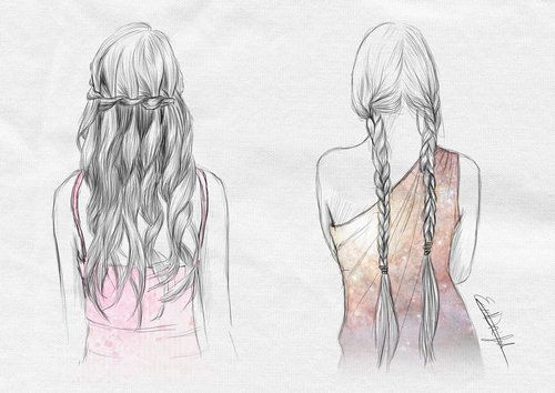 Hair Braids Drawing Sketch Braid Drawings Pinterest - Hairstyle drawing tumblr