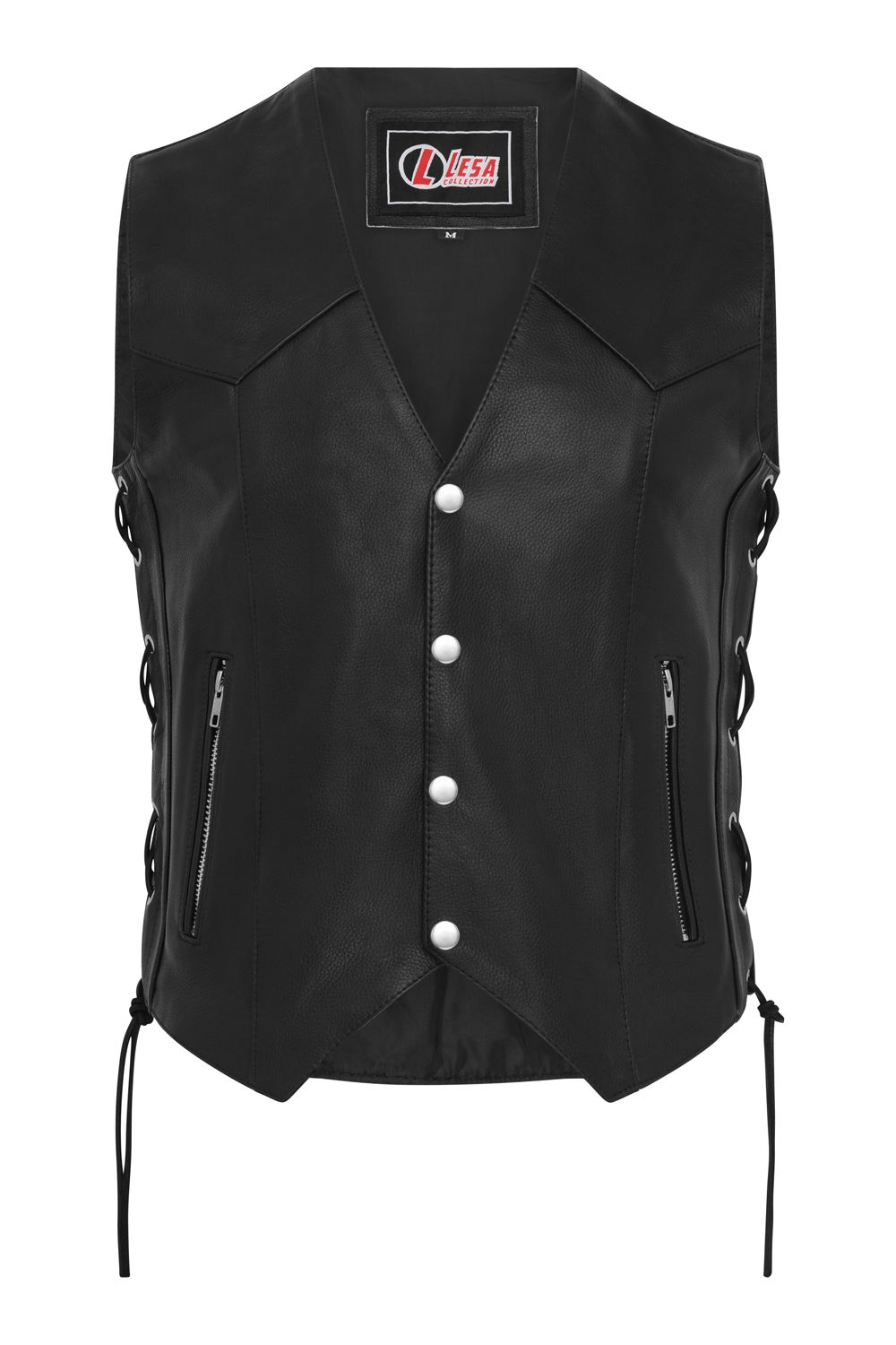 Osx New Men Black Soft Cowhide Biker Harley Leather Stud Jacket Rock