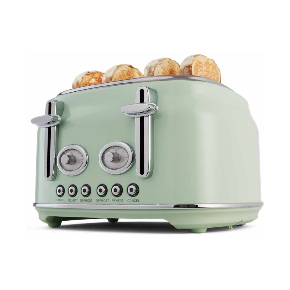 4 Slice Stainless Steel Retro Toaster Mint Kmart Retro