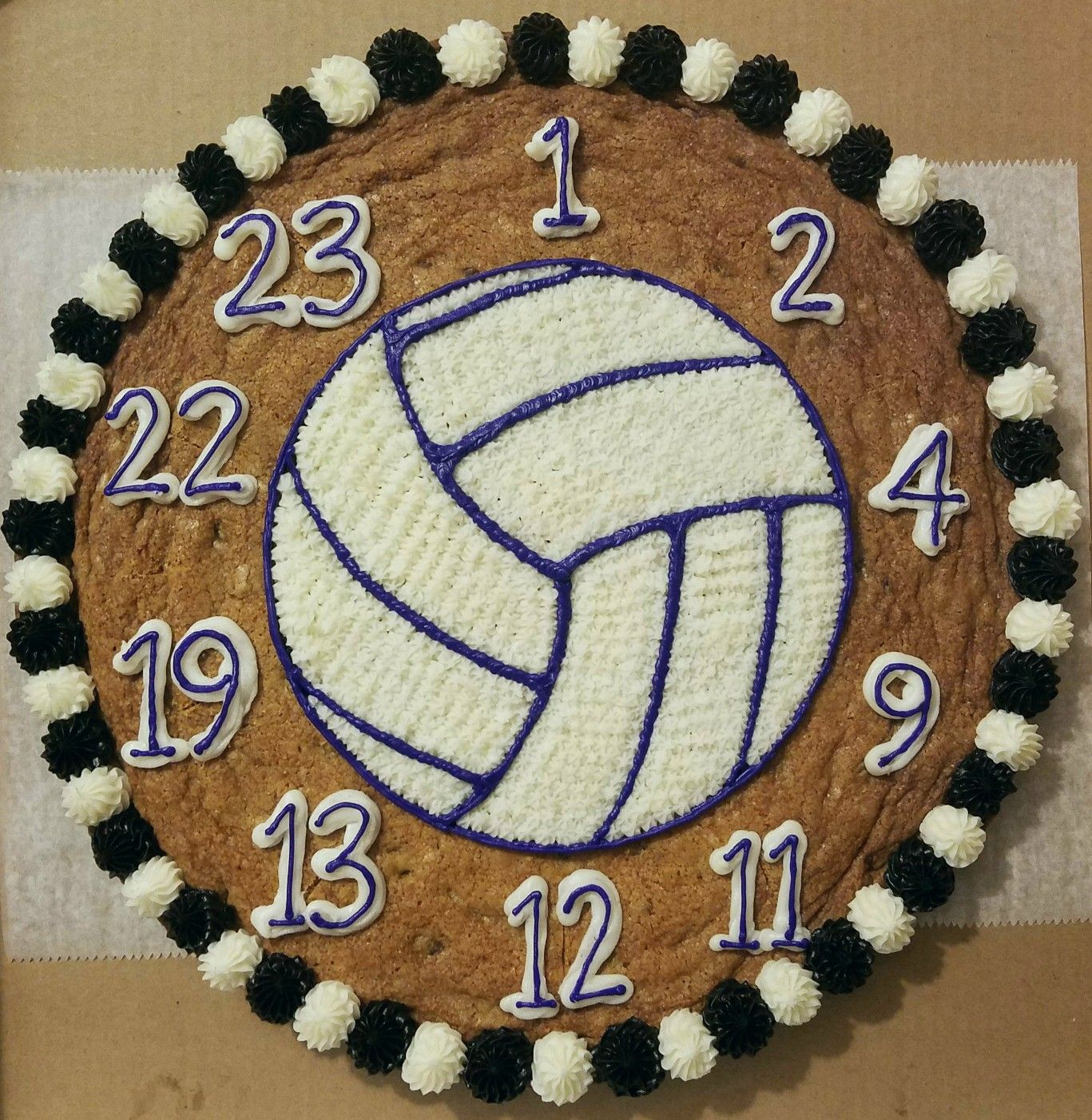 Volleyball Cookie Cake Cookie Cake Birthday Cookie Cake Giant Cookie Cake