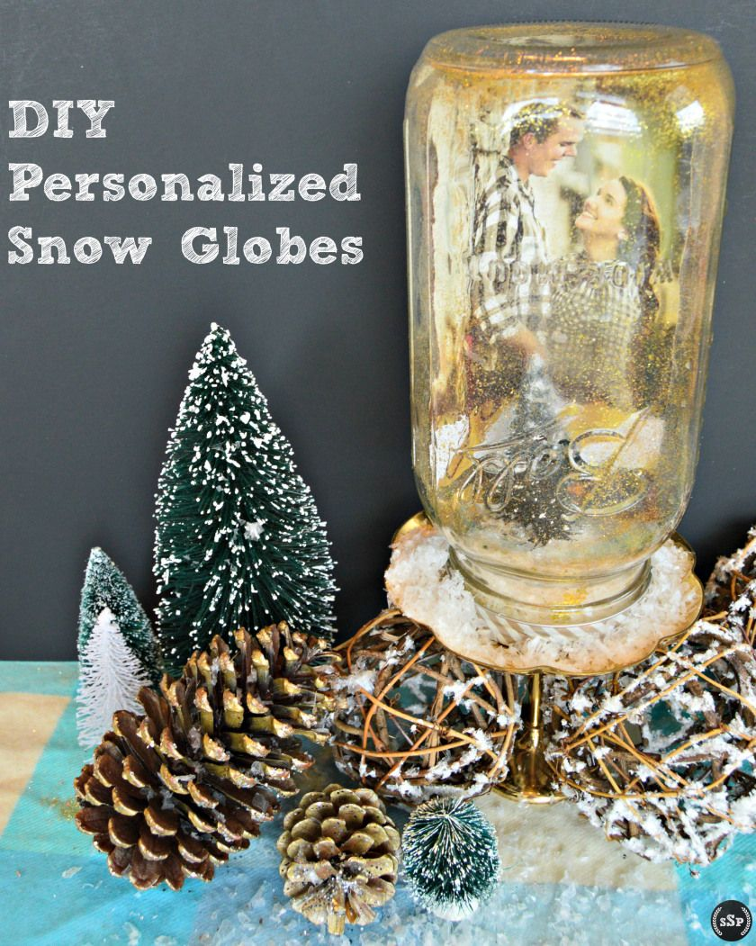Christmas tree snow globes personalized gifts