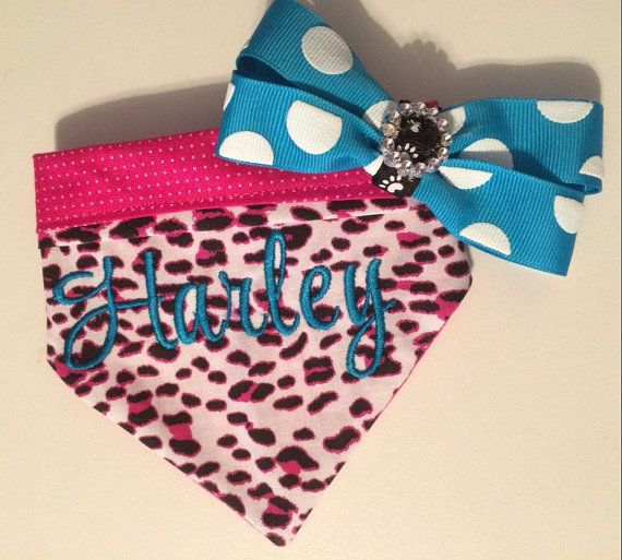 Personalized Dog Bandana by EmbroiderWithKC on Etsy