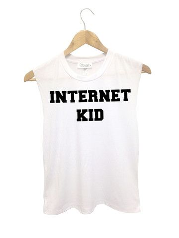 722332cb99 Internet Kid Muscle Tank from FRESHTOPS · Muscle TeesFunny ShirtsKids GirlsTeen  ...