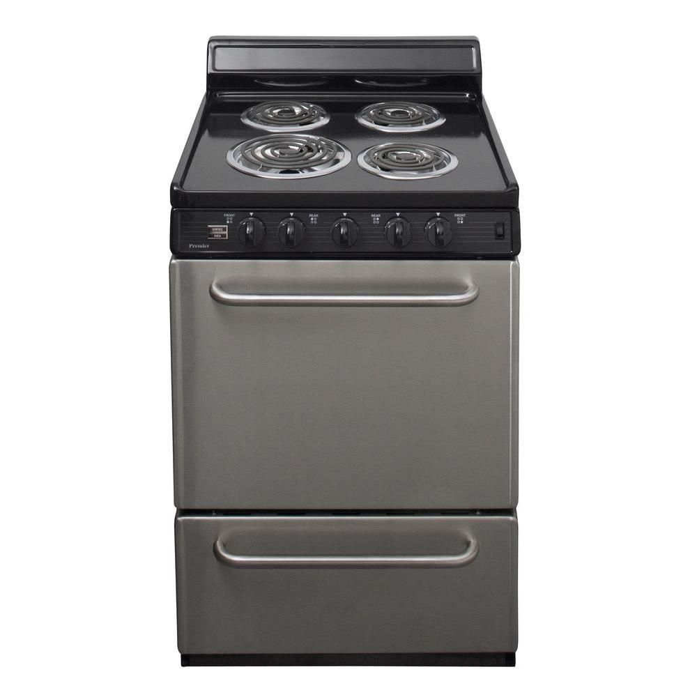 Premier 24 In 2 97 Cu Ft Electric Range In Stainless Steel Eck600bp Cool Things To Buy Electric Stove Stainless Steel