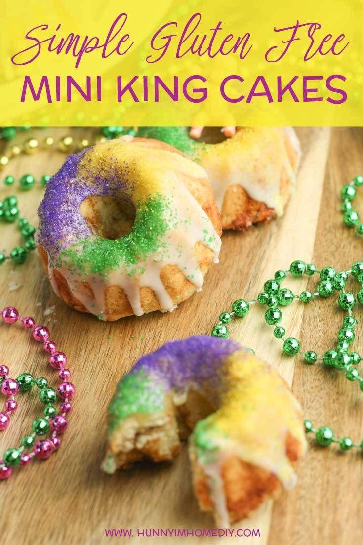 Gluten free mini king cakes recipe gluten free king