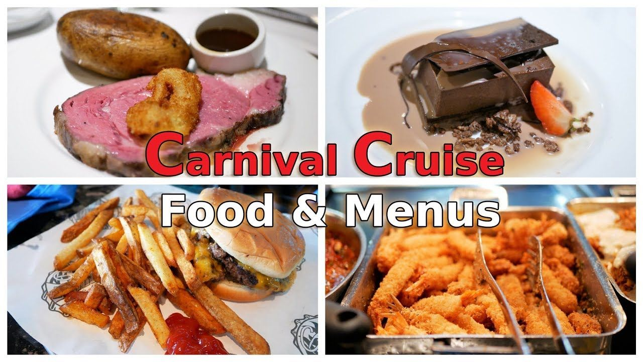 Carnival Cruise Food Overview & Menus (4K) (With Images