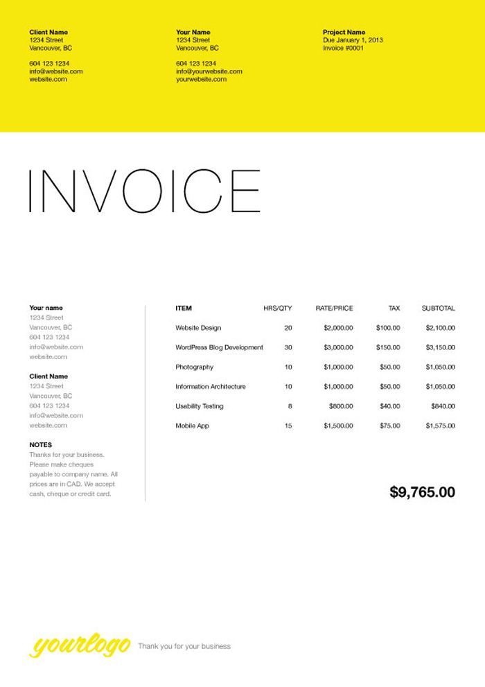invoice description of letterhead for designer - Google Search - web invoice