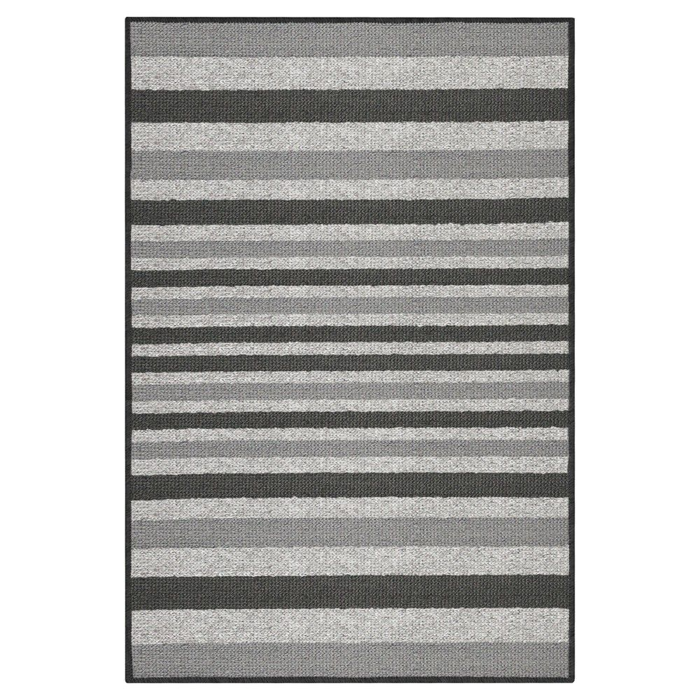 1 8 X2 10 Stripes Washable Doormat Gray Maples Size 1 8 X2 6 In 2019 Striped Rug Washable Rugs Rugs