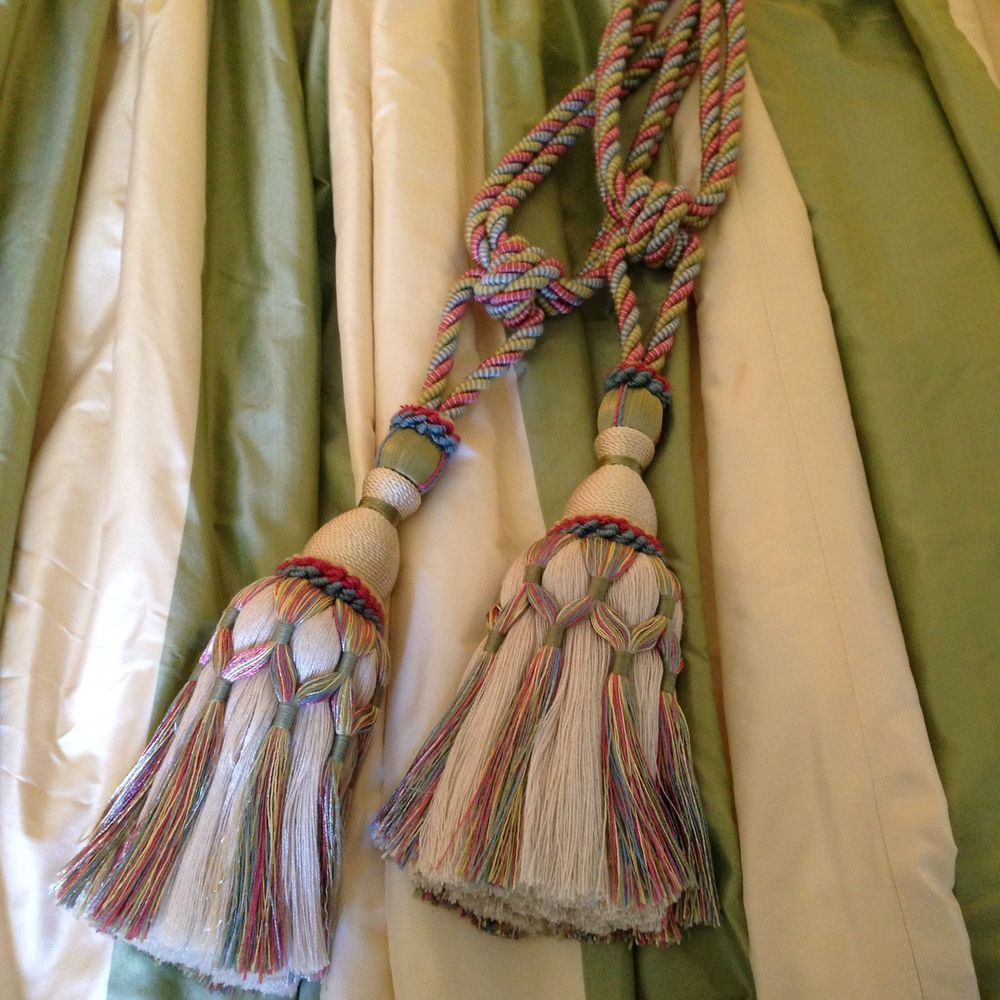 how to make curtain tie backs fabric