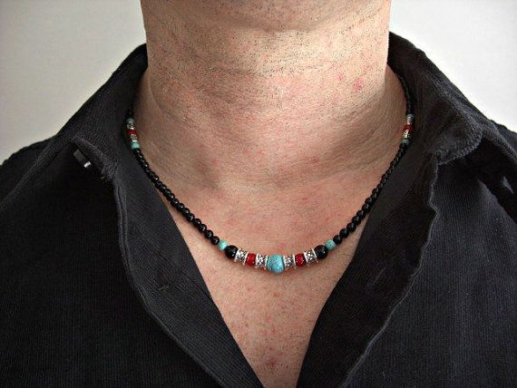 """White Marble /& Magnesite Turquoise Beads Bib Necklace Pendant Silver Toggle 18/"""""""