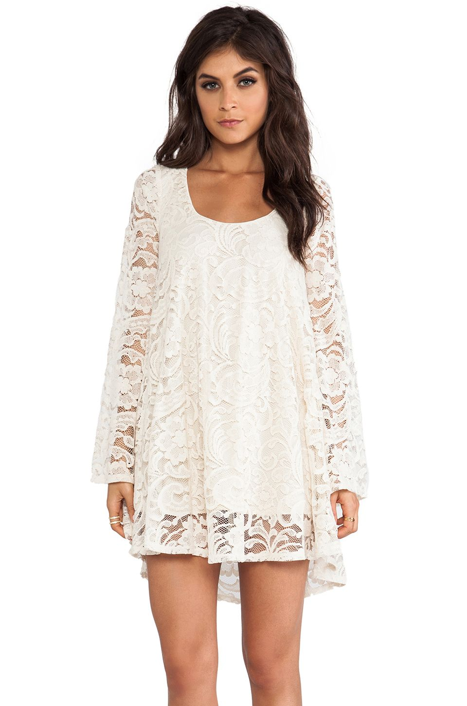 015f917736abf Show Me Your Mumu Fannie Flow Dress in Iola Lace Natural from  REVOLVEclothing