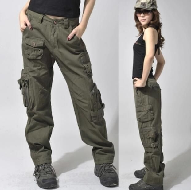 Womens Outdoor Military Loose Fit Casual Pants Cargo Pocket Climbing  Trousers G #womentrousers | My Style | Pinterest | Casual pants, Military  fashion and ...