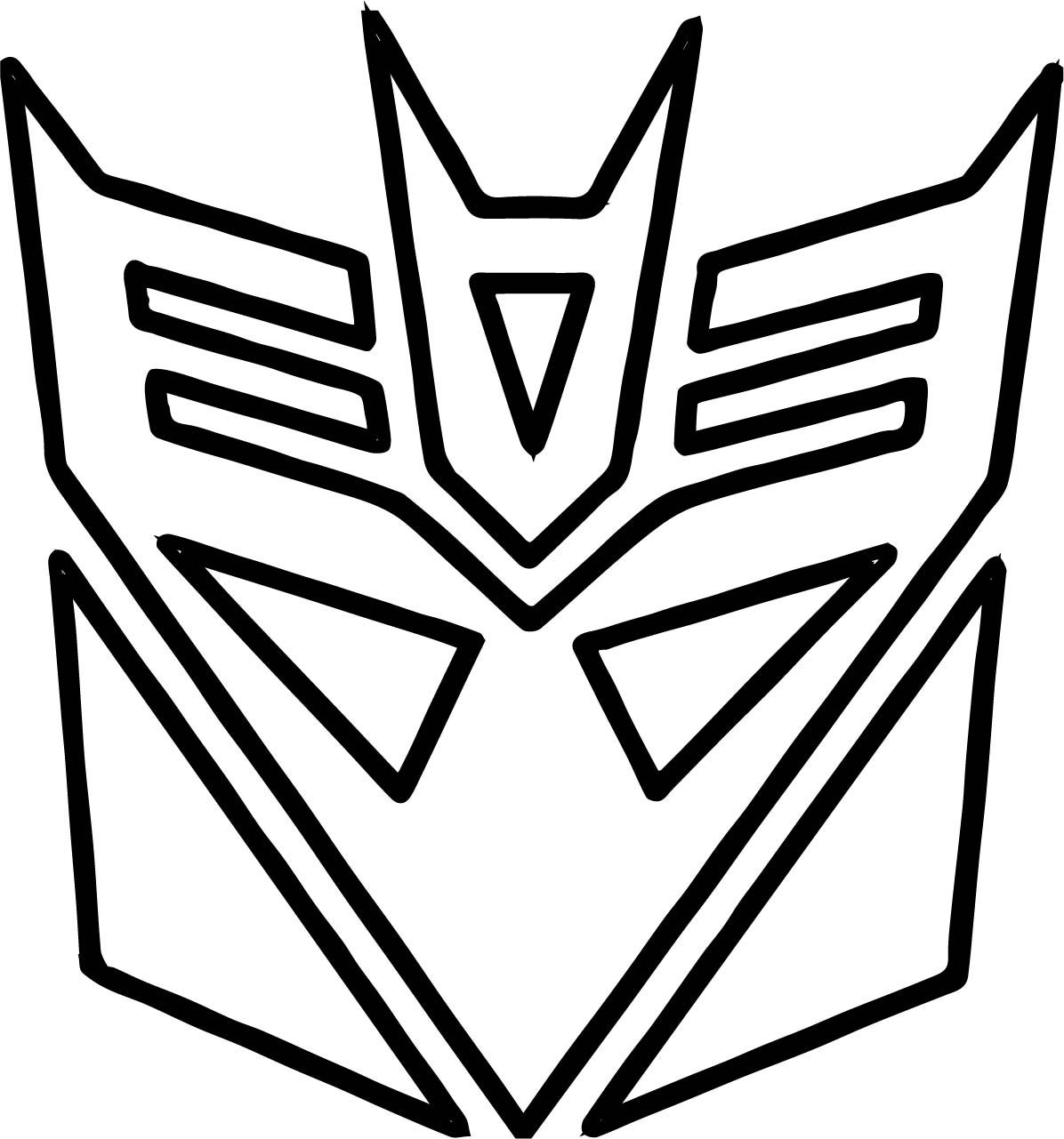 Cool Transformers Logo Coloring Page Transformer Logo