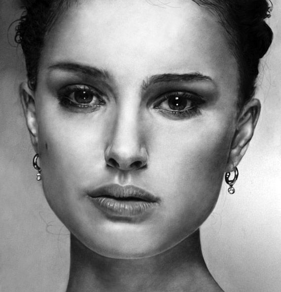 nice collection of female celebrity portrait drawings