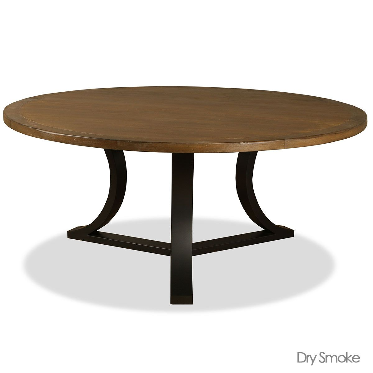 Belle Reclaimed Wood Round Dining Table Dry