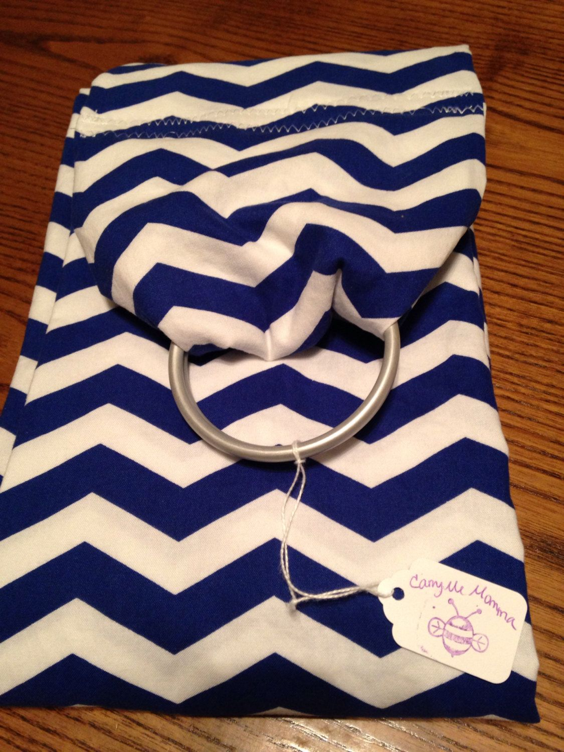 24becbdda48 Blue and white ring sling for your pet. Up to 30 lbs! Large pocket ...