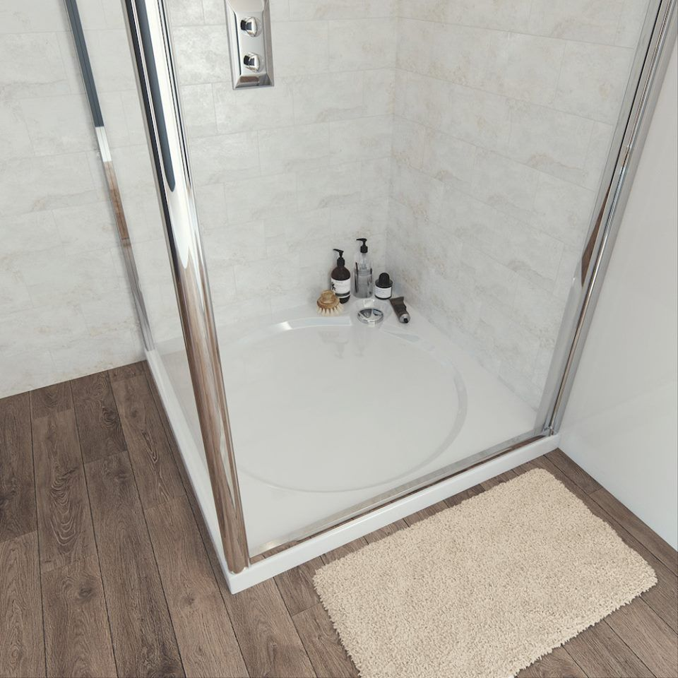 Coram Slimline Shower Trays Have A Lot Of Style In Their Light And Slim 60mm Profile At Less Than 25kg They Re Decep Shower Tray Bathroom Inspiration Shower