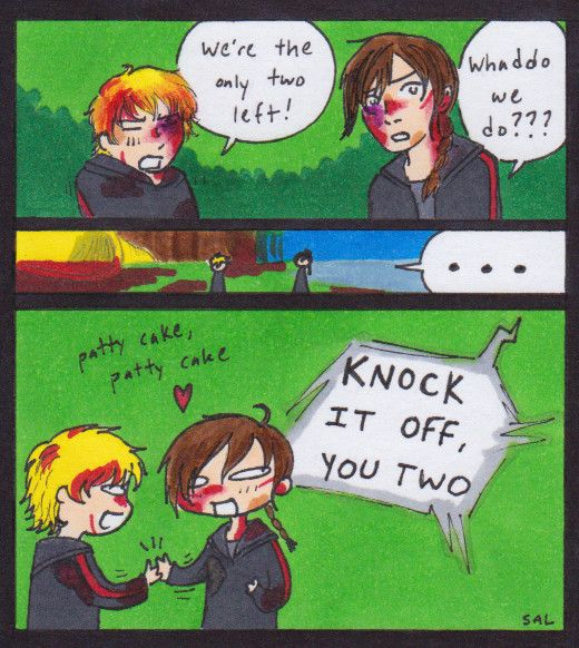 funny the hunger games comics katniss and peeta