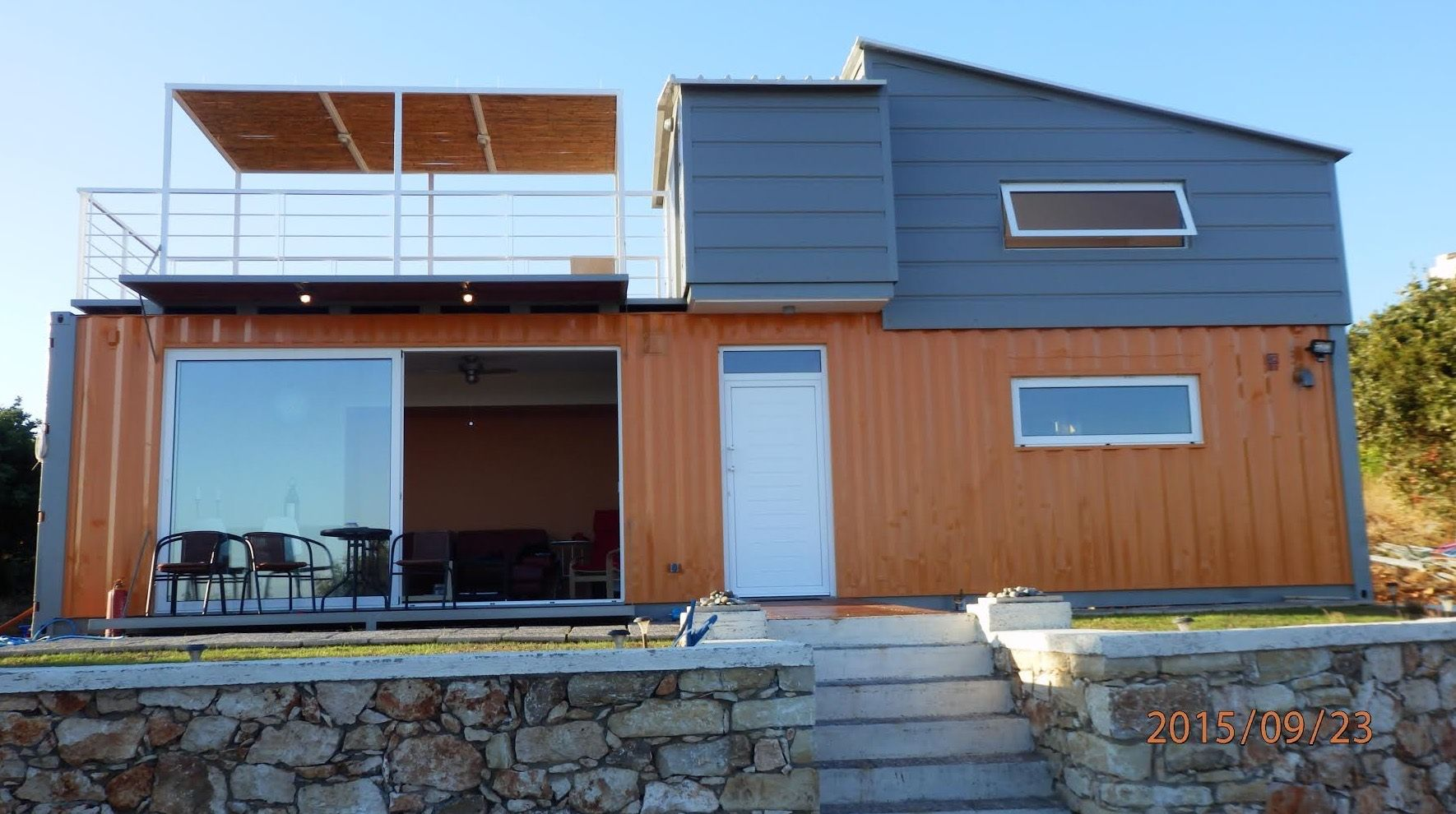 Home Shipping Containers this is a 538 sq. ft. shipping container tiny home in greece built