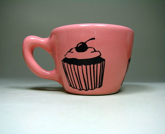 12oz cup cupcake bubblegum  Made to Order / Pick by CircaCeramics, $32.00