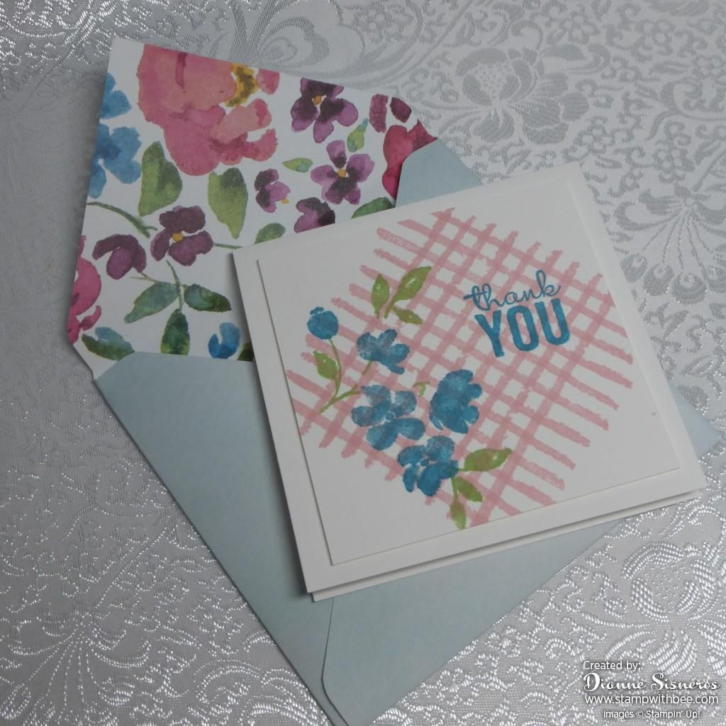 Lovely 44 thank you card with coordinating envelope by