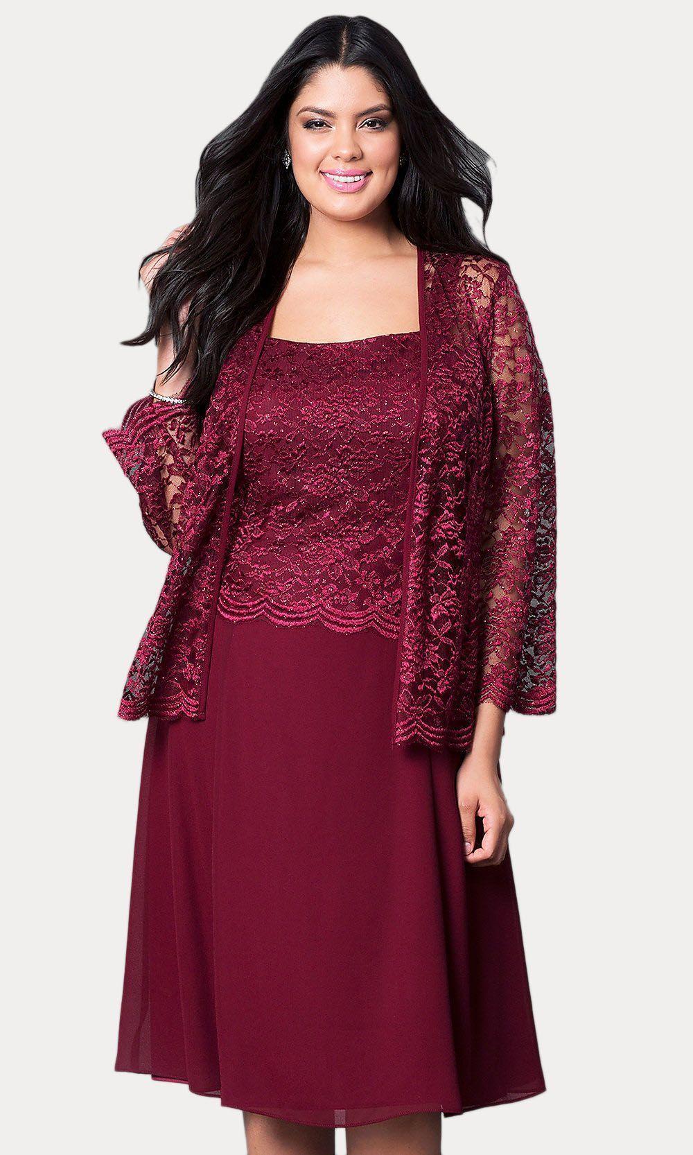 635bd65ae2e5 Short Silver Mother of Groom Dress Chiffon Knee Length Lace Jacket –  DiscountDressShop