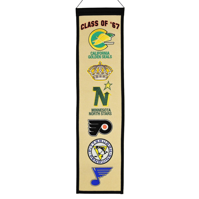 47b90d578 NHL Class of  67 Heritage Banner by Winning Streak Sports