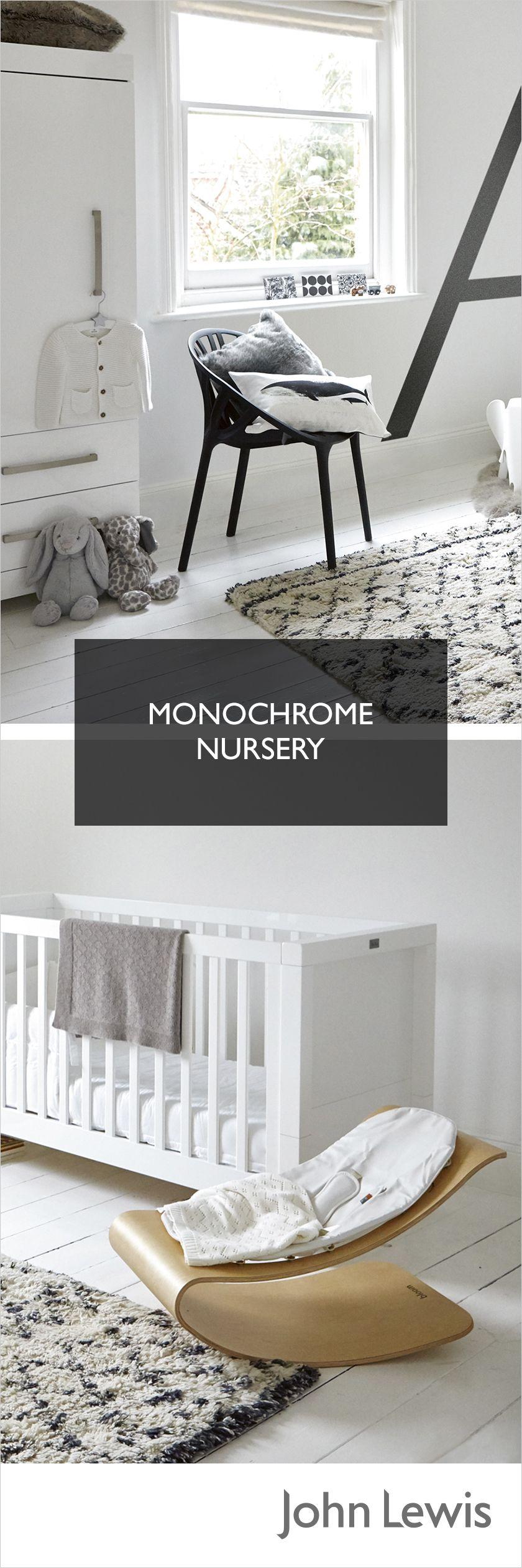 A modern monochrome nursery theme never dates keep it simple with