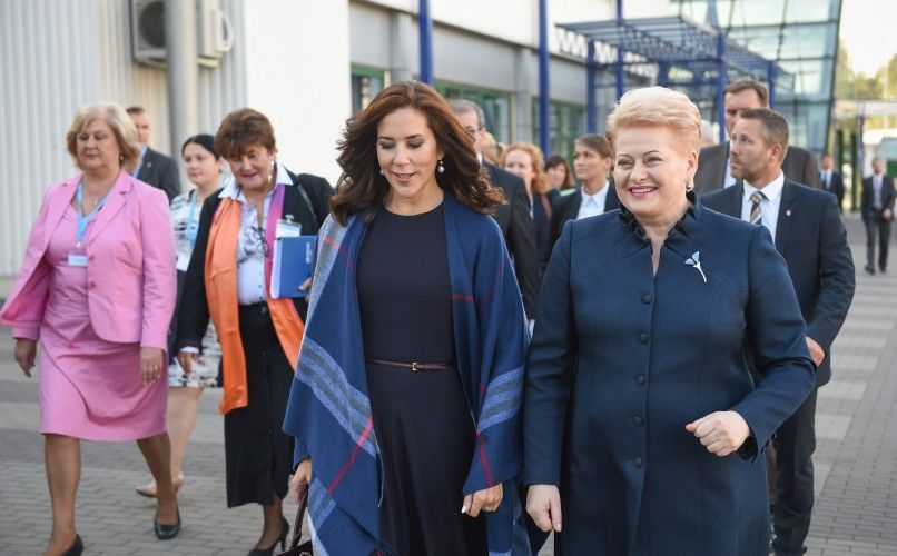 Crown Princess Mary with the President of Lithuania, Dalia Grybauskaitė, at the 65th session of the WHO Regional Committee for Europe in Vilnius.