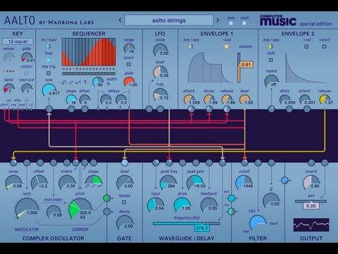 cool FREE synth plugin: Aalto CM from Madrona Labs Free VST Download